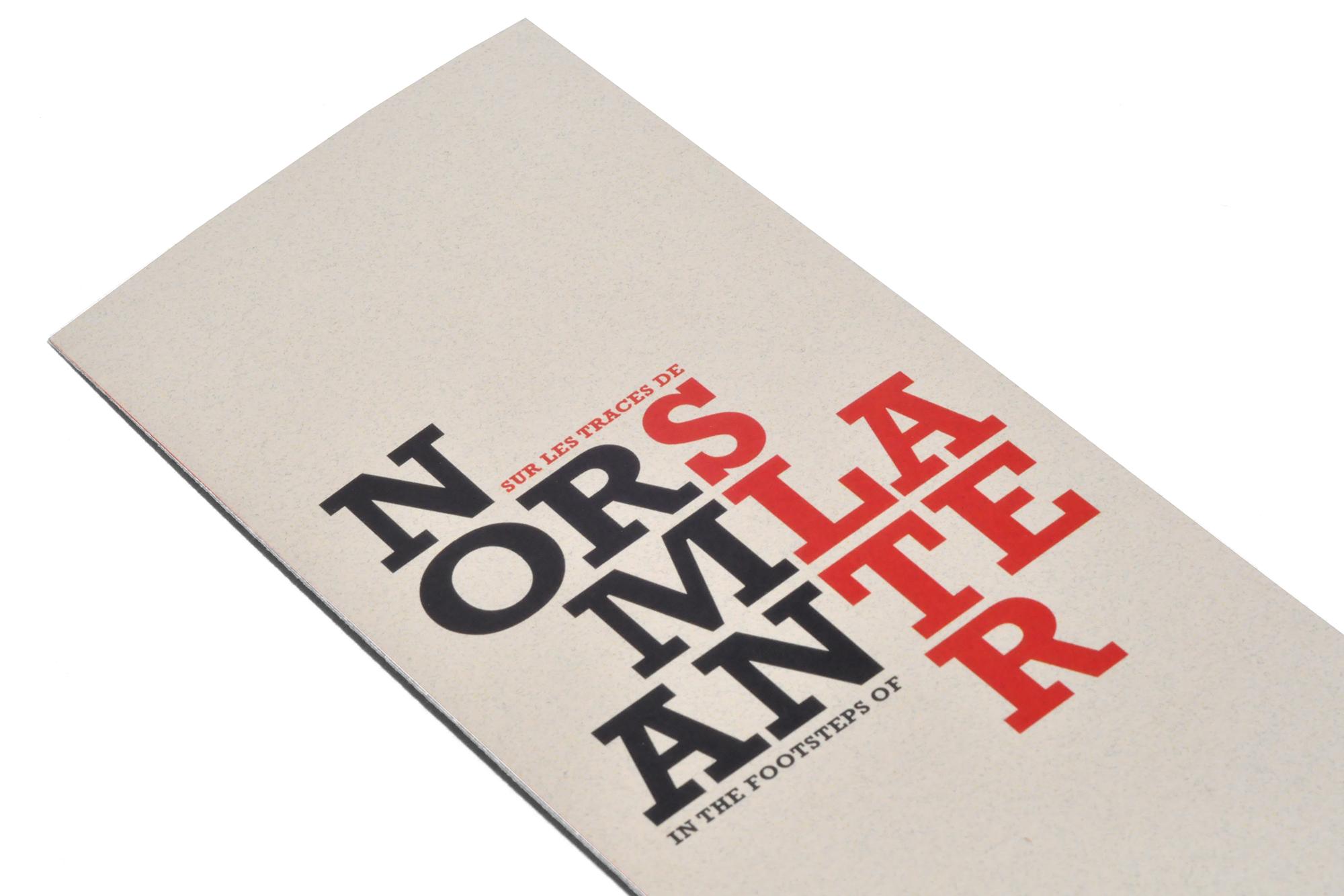 couverture dépliant «Sur les traces de Norman Slater»