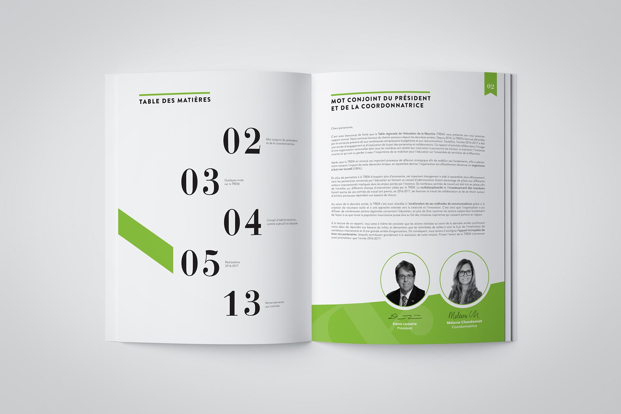 mise en page du rapport annuel 2016-2017 de la TREM