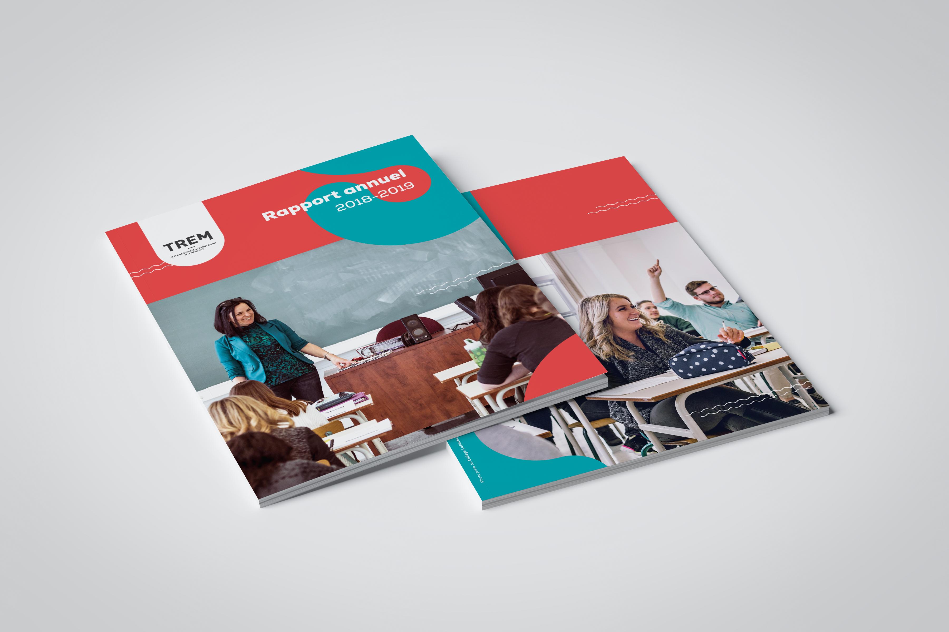 mise en page du rapport annuel 2018-2019 de la TREM