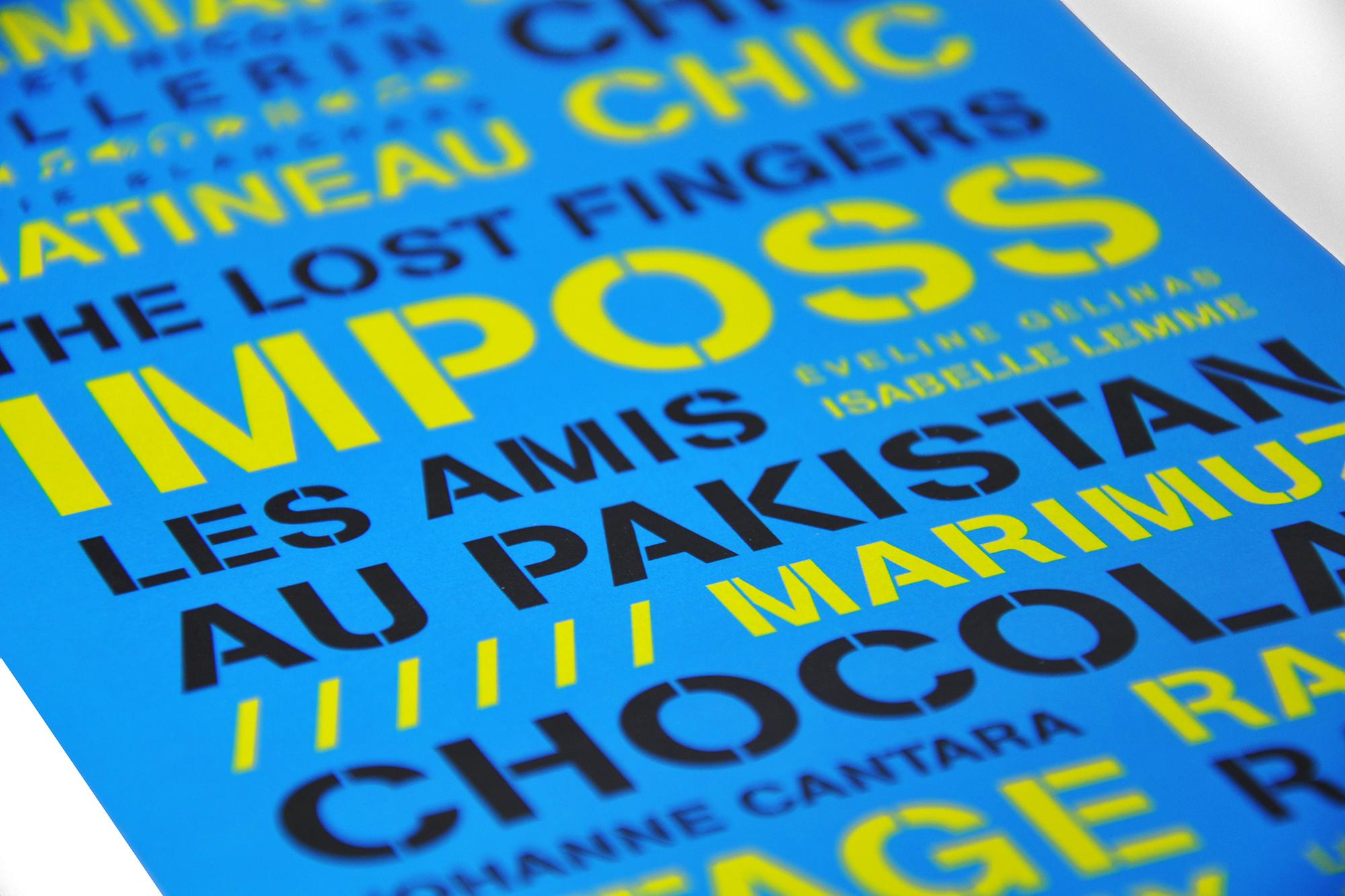 affichette typographique à l'intérieur de l'emballage