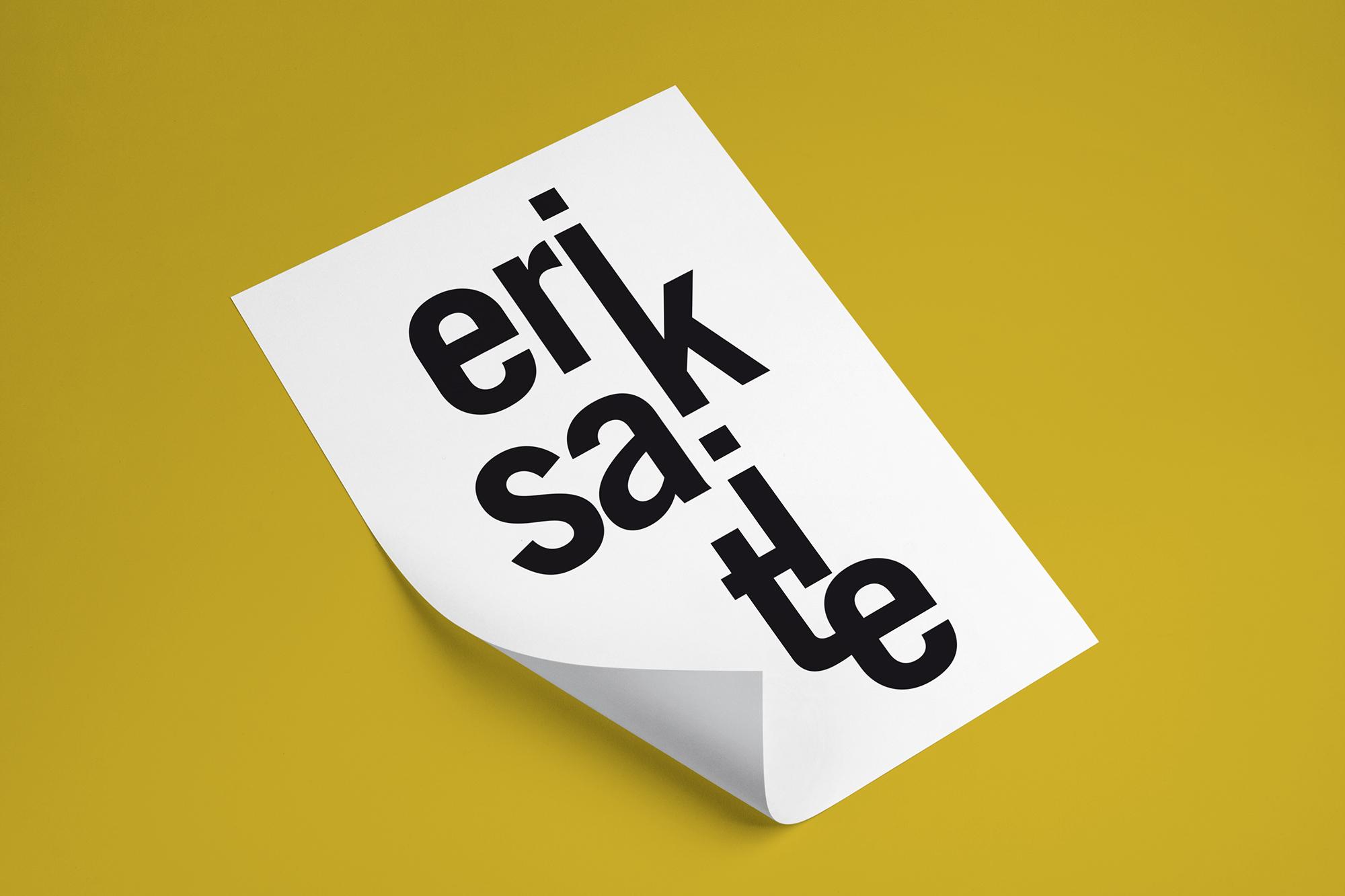 affiche typographique Erik Satie