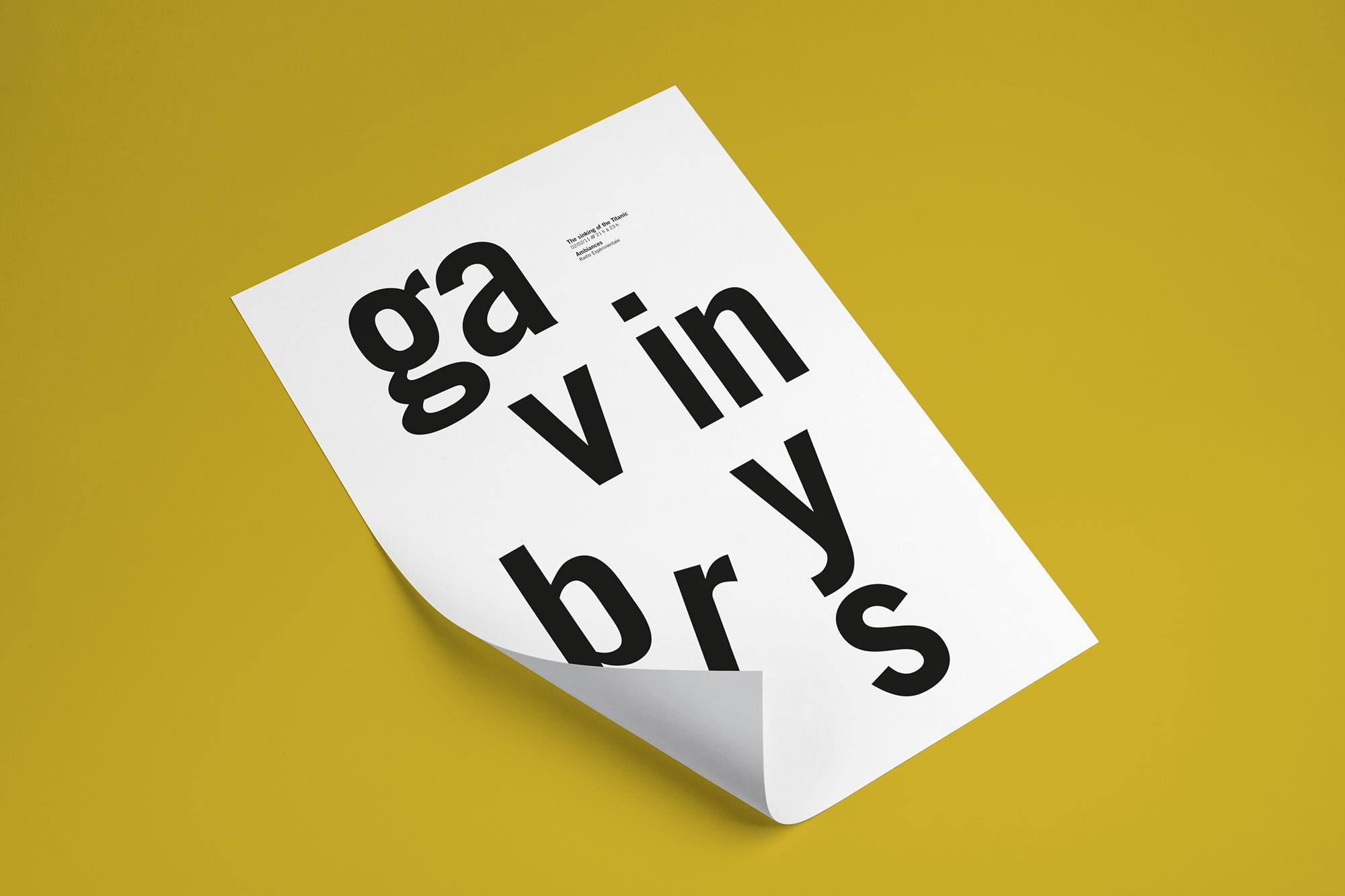 affiche typographique Gavin Bryars