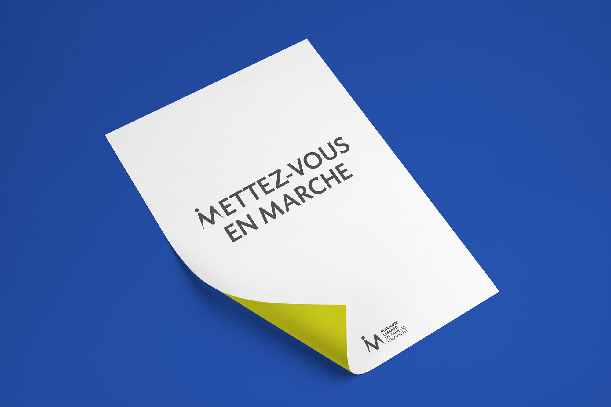 affiche typographique «Mettez-vous en marche»
