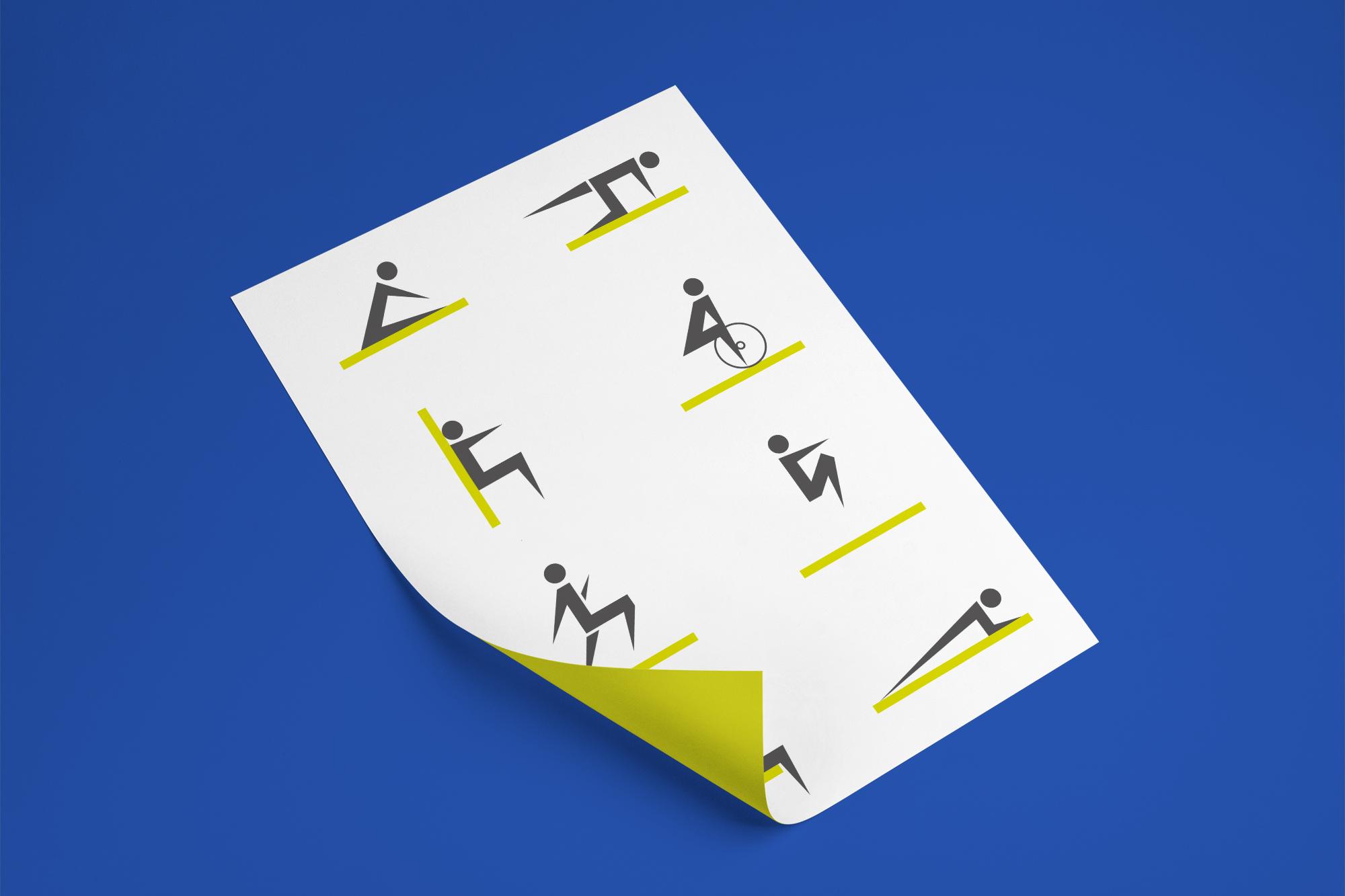 affiche illustrant des icônes d'exercices pour l'entraînement